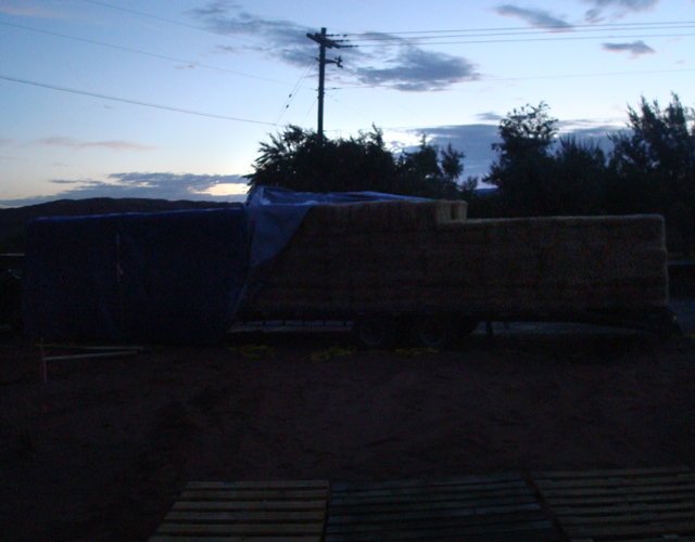 bales on truckbed