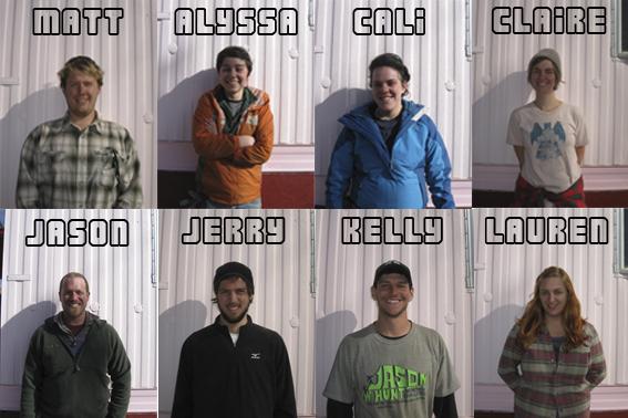 Spring 2012 Student Interns