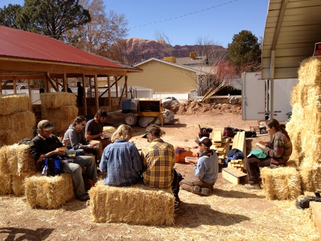 Strawbale lunch