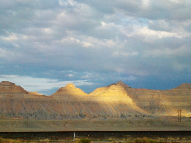 Driving home from Salt Lake, we were welcomed by the beautiful Book Cliffs
