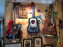 Beautiful mosaic guitars at the Gunnison, CO Art Walk.