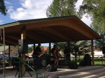 Common Funk rules the park stage at Legion Park in Gunnison, CO